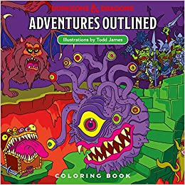 Dungeons & Dragons Adventures Outlined Coloring Book