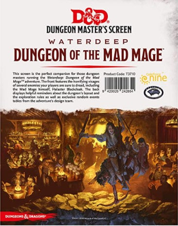 D&D 5th Edition: DM Screen- Dungeon of the Mad Mage
