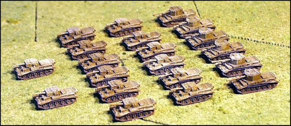 World War II Combat Command - Armoured British Squadron 1944 1:285 Scale