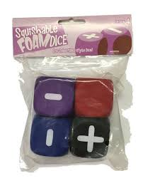 Squishable Foam Dice - Six-Sided FATE-Style Dice (Set of 4)