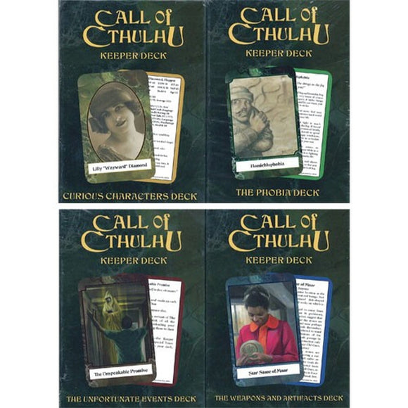 Call of Cthulhu RPG: Keeper Cards
