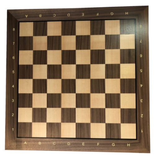 WE Games Walnut/Oak Wood Grain Mousepad Chessboard, 20 inches – made in USA