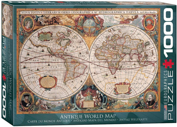Antique World Map Puzzle (1000-Piece)