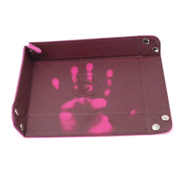Table Armor Folding Dice Tray (Rectangle) Thermic Pink w/ Pink Velvet