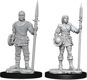 WizKids Deep Cuts Unpainted Miniatures: W10 Guards