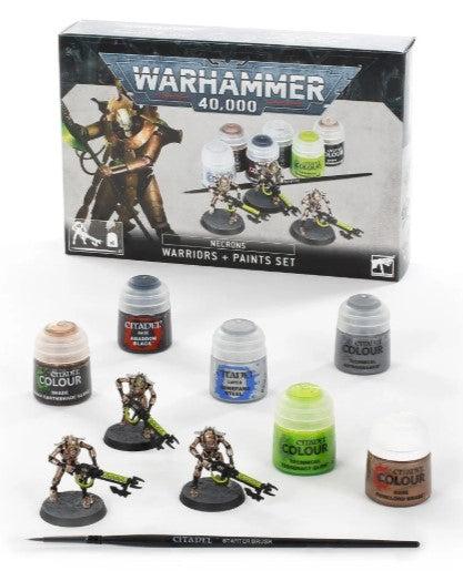 Warhammer 40,000 Necrons Warriors + Paints Set