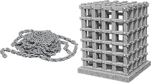 WizKids Deep Cuts Unpainted Miniatures: W6 Cage & Chains