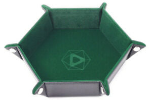 Table Armor Folding Dice Tray (Hexagonal) w/ Green Velvet