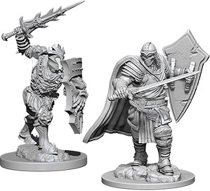 Dungeons & Dragons Nolzur`s Marvelous Unpainted Miniatures: W6 Death Knight & Helmed Horror