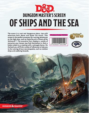 D&D 5th Edition: DM Screen - of Ships and The Sea DM Screen