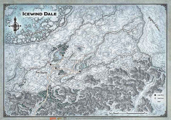 Dungeons and Dragons RPG: Icewind Dale Map (30in x 21in)