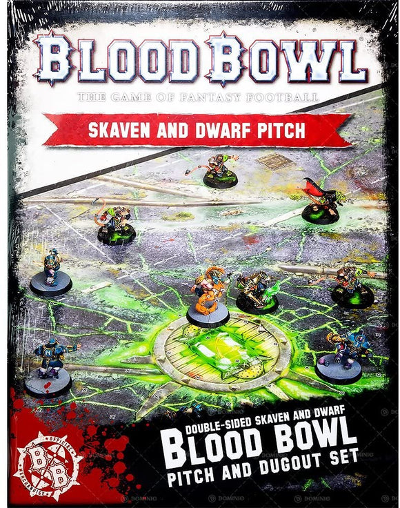 Warhammer Fantasy - Blood Bowl Double-Sided Skaven and Dwarf Pitch/Dugout Set