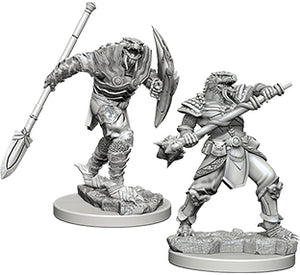 Dungeons & Dragons Nolzur`s Marvelous Unpainted Miniatures: W5 Dragonborn Male Fighter with Spear