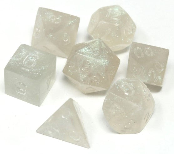 RPG Set - Untumbled Glacial Moonstone