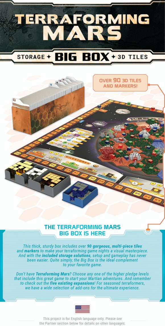 Terraforming Mars BIG BOX - KICKSTARTER EDITION (Various Pledge Levels Available)