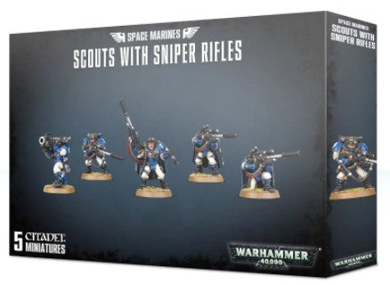 Warhammer 40,000 - Space Marines with Sniper Rifles
