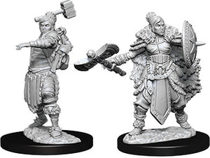 Dungeons & Dragons Nolzur`s Marvelous Unpainted Miniatures: W9 Female Half-Orc Barbarian