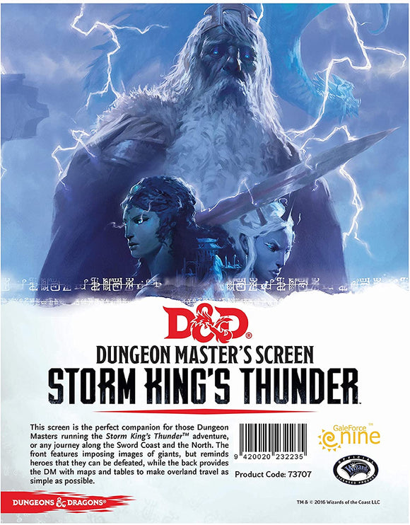 D&D 5th Edition: DM Screen- Storm Kings Thunder