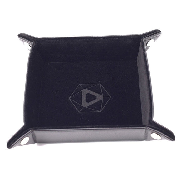 Table Armor Folding Dice Tray (Square) w/ Black Velvet