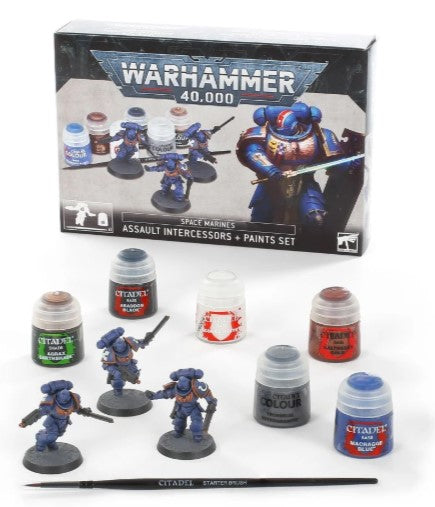 Warhammer 40,000 Assault Intercessors + Paints Set