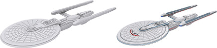 Star Trek Deep Cuts Unpainted Ships: Excelsior Class