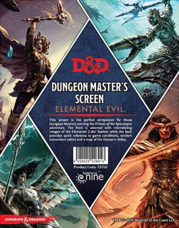 D&D 5th Edition: DM Screen - Elemental Evil - Princes of the Apocalypse