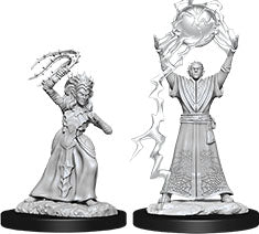 Dungeons & Dragons Nolzur`s Marvelous Unpainted Miniatures: W12 Drow Mage & Drow Priestess