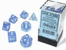 7-Die Set Borealis Luminary: Sky Blue/White