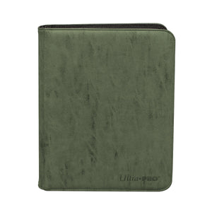Pro-Binder: Premium Zippered 9-Pocket Suede - Emerald