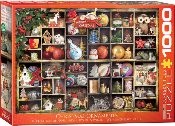 EuroGraphics Christmas Ornaments 1000-Piece Puzzle