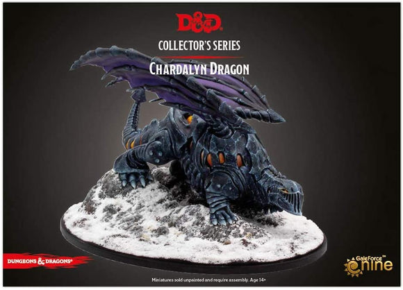 Dungeons and Dragons RPG: Icewind Dale: Rime of the Frostmaiden - Dragon of Black Ice (1 fig) - Chardalyn Dragon