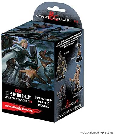 WizKids Dungeons & Dragons Fantasy Miniatures: Icons of The Realms Set 8 Monster Menagerie 3 Booster