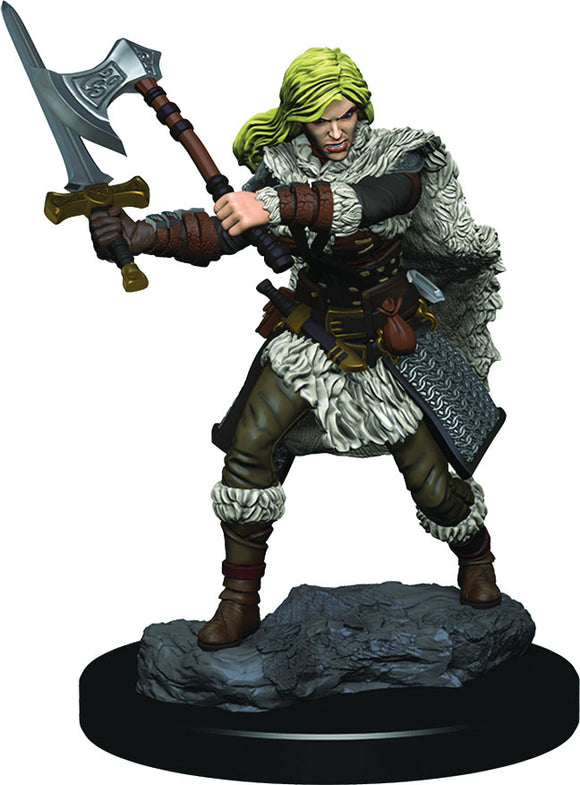 D&D Icons of the Realms: Premium Miniature - Human Female Barbarian