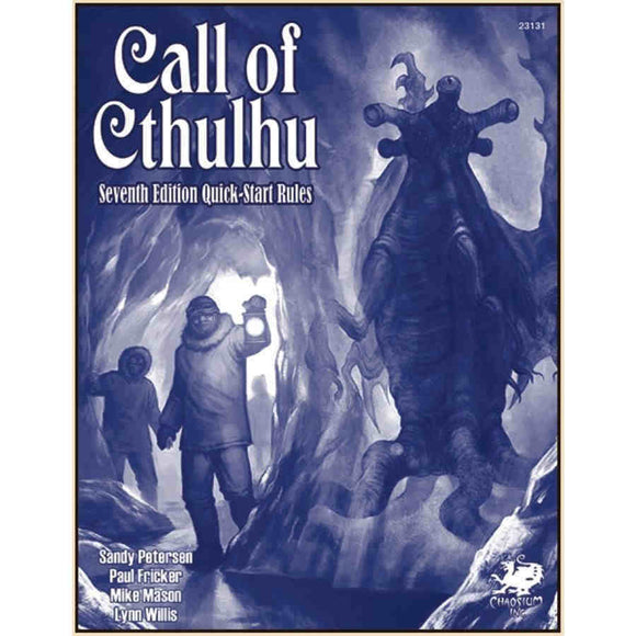 Call of Cthulhu RPG: 7th Edition Quick-Start Rules
