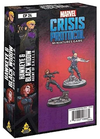 Marvel: Crisis Protocol - Hawkeye & Black Widow Agents of S.H.I.E.L.D Character Pack