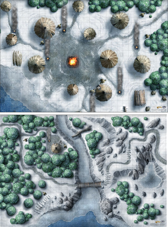 Dungeons and Dragons RPG: Icewind Dale Encounter Map Set (2x 20in x 30in)