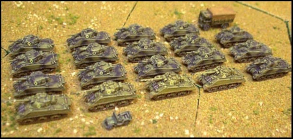 World War II Combat Command - British Sherman Squadron 1944 1:285 Scale