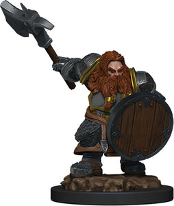 Dungeons & Dragons Fantasy Miniatures: Icons of the Realms Premium Figures W5 Dwarf Fighter Male