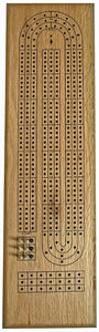 WE Games- Classic Wooden Cribbage Board Game Set- Solid Oak