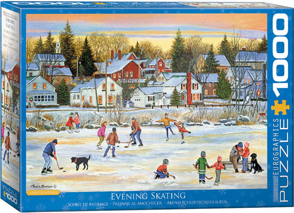 EuroGraphics Evening Skating 1000-Piece Puzzle
