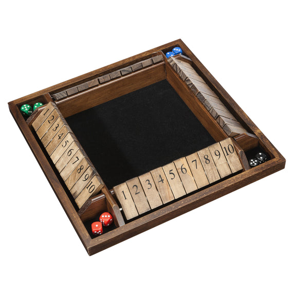 WE Games 4-Player Shut the Box – Large Coffee Table Version