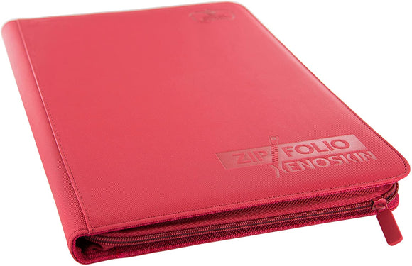 9-Pocket XenoSkin Zipfolio, Red