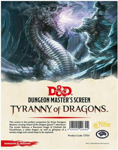 D&D 5th Edition: DM Screen -Hoard of The Dragon Queen