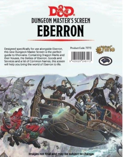D&D 5th Edition: DM Screen - Eberron Rising From the Last War