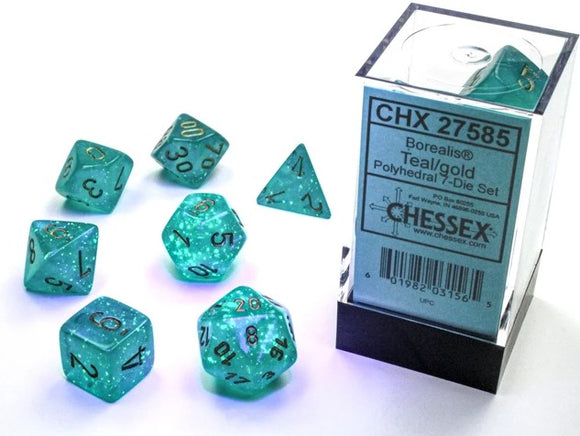 7-Die Set Borealis Luminary: Teal/Gold