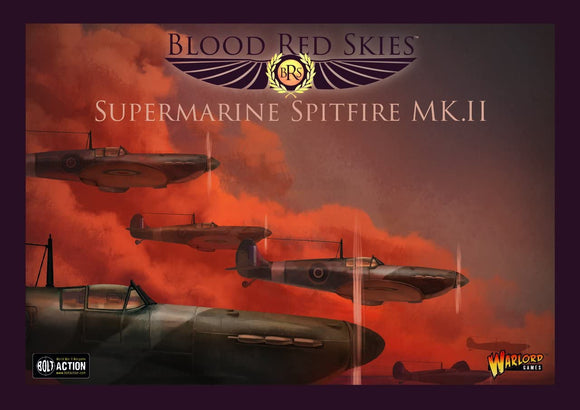 Blood Red Skies Spitfire MKII Squadron 1:200 WWII Mass Air Combat War Game