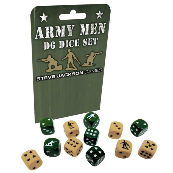 Army Men D6 Dice Set (12 Dice)