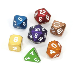 RPG Set - Forged Dice - Frosted Rainbow Mix