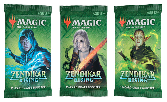 Magic the Gathering CCG: Zendikar Rising Draft Booster Pack