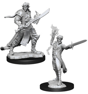 Pathfinder Deep Cuts Unpainted Miniatures: W11 Male Elf Magus (Magic User)